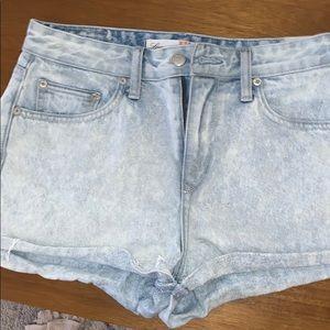 Lovers and Friend lightwash denim shorts